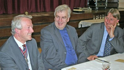 ...and Geoff Thorpe, President Hartlebury Old Elizabethans Association, Canon Owain Bell, Vicar of Saint Mary's and All Saints, Kidderminster, who kindly said Grace on this occasion, and Tim Gulliver, Head Teacher, King Charles I School.