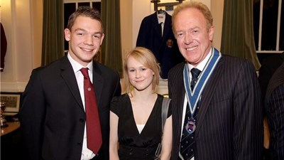 Association President, Patrick Yarnold, with the current Head Boy and Girl, Ben Brookes and Elspeth Ransom.