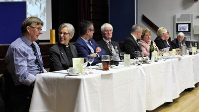 President Ian Sandall,, Secretary Tim Gulliver and Treasurer Peter Picken with our top-table guests