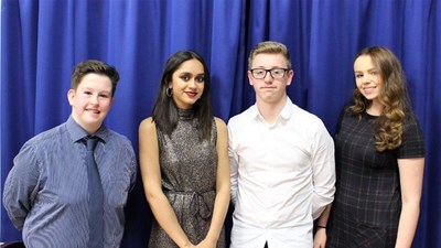 Joe Caldwell, Nina Das-Gupta, Ben Onslow and Hannah Kearns