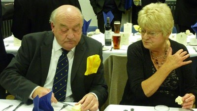 Past-President Ken Ryder and Ann Witts