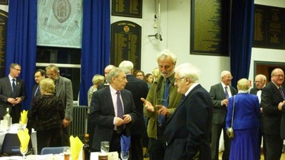 Steve Perks, Stan Hutton and Norman Broadfield in conversation.