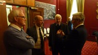 Colin Lloyd, David Laverty, Peter Picken and Roger Perrin in discussion