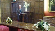 Our President, Stephen Wyer, leads the Remembrance Ceremony